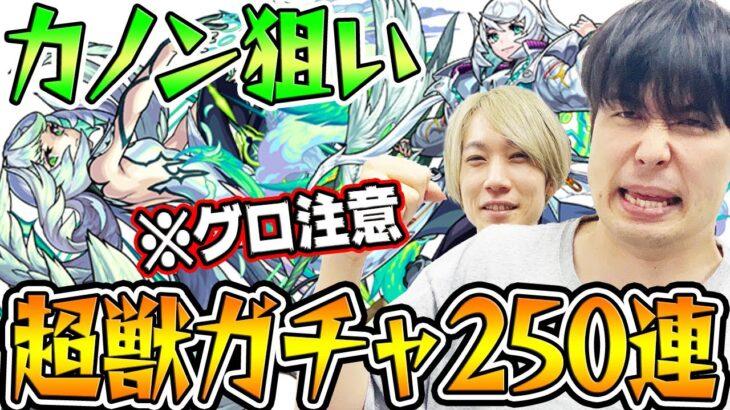 【モンスト】新限定カノン狙いで超獣ガチャ250連!※グロ注意