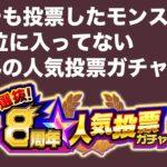 【モンスト】ごむひもの人気投票ガチャ2021